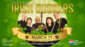 Irish Buskers play Tampa International Airport